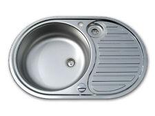 EURODOMO Einbauspüle Küchenspüle SINGLE 2 Edelstahl glatt