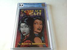 CYBLADE SHI BATTLE FOR INDEPENDENTS 1 CGC 9.4 1ST SARAH PEZZINI WITCHBLADE COMIC