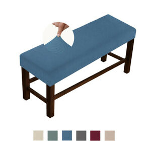 Soft Stretch Bench Cushion Slipcover Cover Rectangle Dedroom Removable