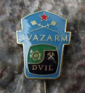 Vintage Svazarm Czech Military Reserve DVIL Coal Mines Defence Force Pin Badge