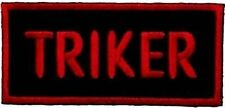 TRIKER Red Trike Embroidered Motorcycle Biker Motorcycle MC Vest Patch PAT-1855