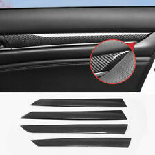 For Honda Accord 2018-2020 Carbon Fiber Style Door Panel Stripes Cover Trim 4PCS