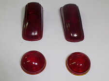 1941 Plymouth Rear Lens Set - 2 Tail Lamp Lenses - 2 Stop Lamp Lenses