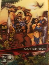 2015 Upper Deck Marvel 3D #39-3D Savage Land Mutates Lenticular Variant NM-Mint