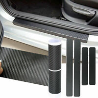 3D Carbon Fiber Vinyl Scuff Plate Door Sill Guard Sticker Decals for Ford