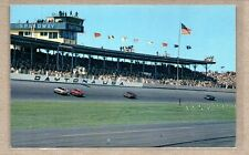 Stock Cars Racing on Track Daytona Speedway Florida Postcard