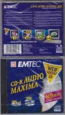 EMTEC CD- R AUDIO FOR AUDIO RECORDER  1 STÜCK NEU  + OVP