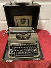 1949 Vintage Underwood Champion Portable Typewriter Model With Original Manual