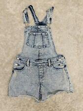 Jordache Girls Overall Shorts 10/12 Large Acid Wash