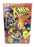 Vintage Marvel  X-Men Box Of 34 Valentine Cards Sealed Unopened With Box Damage