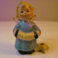 Vtg Goebel Hummel Figurine Musical Angel w/ Candle Holder and Accordian