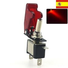 DC 12V 20A LED Rojo Luz Toggle Switch Control del Interruptor ON/OFF Coche 2