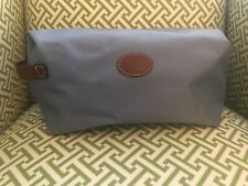 Longchamp Le Pliage Large Cosmetic Case/Bag-Blue with leather handle