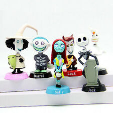 6pcs Set The Nightmare Before Christmas Jack Sally BobbleHead Figure Doll Toys