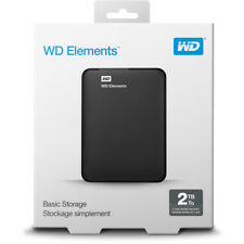 HARD DISK ESTERNO 2,5 USB 3.0 2TB 2000GB WESTERN DIGITAL ELEMENTS WD