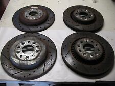 2006 05 06 FORD FREESTYLE  LEFT RIGHT FRONT REAR BRAKE ROTORS DRILLED & SLOTTED