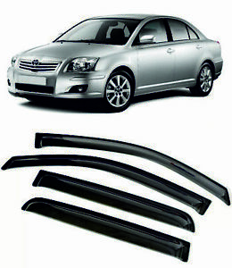 For TOYOTA AVENSIS 2003-2008 Window Visors Sun Rain Guard Vent Deflectors