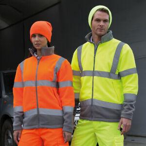 Hi Vis  Microfleece Safe-Guard Safety Jacket workwear
