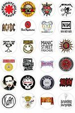 24 90's Music Rock Metal Band Cupcake fairy Cake Toppers Edible Rice Wafer Paper