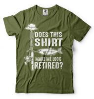 Fishing T-shirt Funny Mens Retirement Fishing Hobby T-shirt Grandpa Tee Shirt