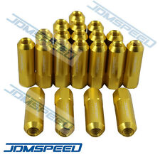 20 GOLD JDMSPEED M12X1.5 60MM EXTENDED FORGED ALUMINUM TUNER RACING LUG NUT SET