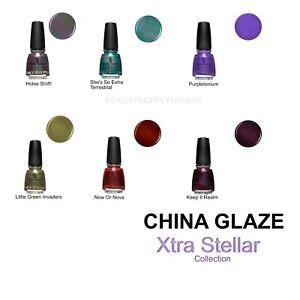 China Glaze nail polish: Xtra Stellar.  A fun collection of monochrome shades🪐