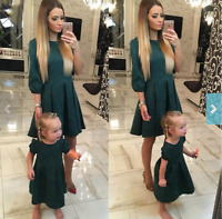 Mother and Daughter Women Girls Party Dress Family Matching Outfits Dress*Summer