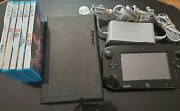 NINTENDO WII U 32 GB CONSOLE WUP-101(02) Game Pad Controller includes 5 Games