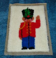 Vintage 1970s Toy Soldier Latch Hook Rug - Euc!
