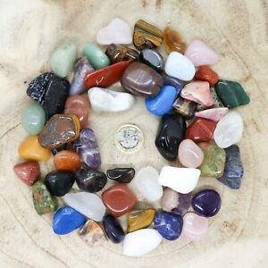 50 x Assorted Crystal Tumblestone Sets Collections 487g-569g Reiki seconds
