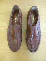 Mens Shoes Barker handmade brown loafers, size UK 10.5 width G, EU 45, used 3340