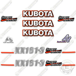Kubota KX161-3 Decal Kit Mini Excavator Replacement Decals (KX 161-3)