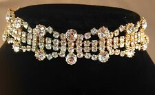Diamante Golden Choker Necklace,sophisticated,bridal,prom,party HM16-003G/W