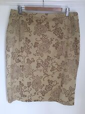 Gold Skirt Size 16 Planet Occasion Pencil  Skirt