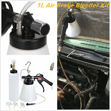 1L Air Brake Oil & Fluid Extractor Bleeder Kit Hydraulic Fluid Fill Bottles Tool