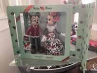 Disney Mickey and Minnie Mouse Limited Edition 4600 Sweethearts Doll Set NEW