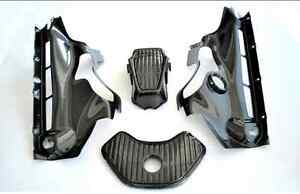 McLaren MP4-12C Carbon Fiber Engine Bay Panels 6 Piece Kit
