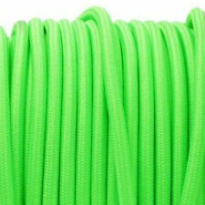 NEON GREEN vintage textile fabric electrical cord cloth cable retro