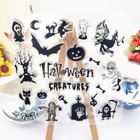 Halloween DIY Transparent Silicone Clear Stamps Scrapbooking Album Cards De RK