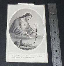 CHROMO 1920-1930 IMAGE PIEUSE CATHOLICISME JESUS CUEILLE FLEUR RELIGION PRIERE