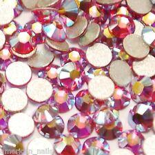 20 STRASS Cristal SWAROVSKI Rose AB Bijou ongle 2,1 mm Nail Art