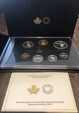1967-2017 Canada Centennial 7-Coins Pure Silver Proof Set: Alex Colville Design