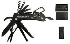 Titanium Black Swiss Army Pocket Knife By SingleEdge  - 14 Function Multi Tool