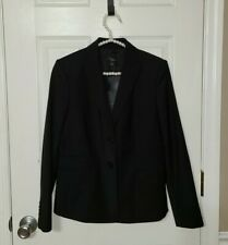 NWT Ann Taylor Petite Sz 4P Classic Black Tropical Wool Suit Blazer Jacket