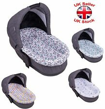 Universal Set of Mattress and Side Liner For Carrycot Replacement New Patterns