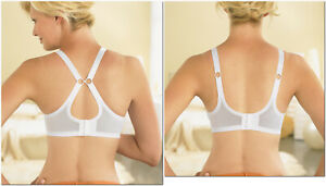 Brand Name COMPLETE COMFORT Stretch Bra 2-In-1 CONVERTIBLE Nude White NEW SEALED