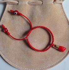 Baby Red String Bracelet, Red evil eye,good luck charm. (Mano Azabache)
