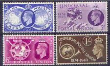 Great Britain 1949 UPU Set (4) UNHINGED Mint, SG 499-502
