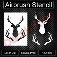 "Hunting Buck Head Rack Deer Reusable Airbrush Stencil Template 11""x8.5"" FreeShip"