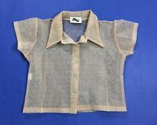 Mariella Excise vintage camicia camicetta maglia top sexy disco tg 42 usato T872